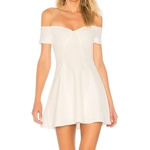 By The Way Monica Fit & Flare Off Shoulder Dress